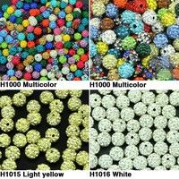 Wish | 50pcs 10MM DIY Clay Disco Ball Pave Crystal Shamballa Beads for Jewelry LYD