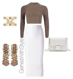 """Mocha Chic"" by fashionablyeren ❤ liked on Polyvore"