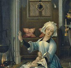 ] Jan de Beer - The Birth of the Virgin (1520) - Detail
