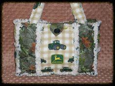 John Deere Rag Quilt Diaper Bag