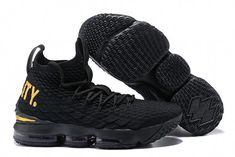 3b1e3367f90 Latest style Nike LeBron 15 Pride of Ohio Black Gold Men s Sneakers  Basketball Shoes