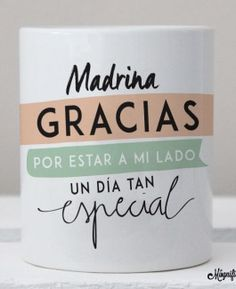 "Taza ""Gracias Madrina"" Boy Baptism, Baptism Gifts, Baptism Ideas, Baby Mine, Ideas Para Fiestas, First Communion, Holidays And Events, Wedding Favors, Wedding Ideas"