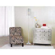 Possini Euro Glitz Crystal and Chrome Floor Lamp
