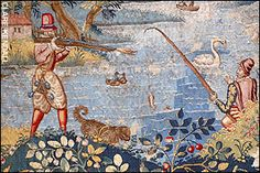 Elizabethan Tapestries | detail from the tapestry shows a hunting expedition