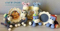 Lieve fotolijstjes voor de kinderkamer! Leuk om te hebben of kado te geven! Zie www.facebook.com/liefenuniek.
