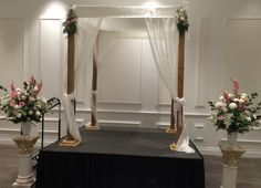 Cedar with Satin & Organza from www.chuppah.ca @Lebovic Jewish Community Campus @Zuchter Berk Catering