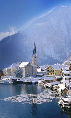 Hallstatt, Austria I love this town!!!!! Only been there once...........................v