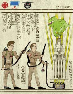 Ghostbusters by Josh Ln - Home of the Alternative Movie Poster -AMP- Culture Pop, Geek Culture, Power Rangers, Alternative Movie Posters, Transformers Art, Geek Art, Egyptian Art, Star Wars Art, Cartoon Art