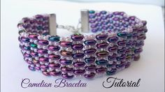 Chamelion bracelet - ladder stitch with superduos