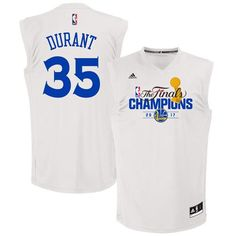 b3c43f9e2 Men s Golden State Warriors Kevin Durant White 2017 The Finals Championship  Stitched NBA adidas Swingman Jersey
