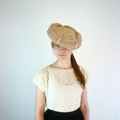 1950s Tulle Saucer Tilt Hat