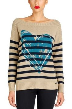 Love Rep Desigual women's pullover from the 100% Desigual line. This stunning pullover will conquer your heart with its lovely blue print, its color palette and its cut. �La vida es chula!