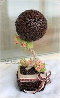 Correo: Flor Torres Cuzcano - Outlook Coffee Bean Art, Coffee Beans, Handmade Crafts, Diy And Crafts, Floating Tea Cup, Diy Framed Art, Cup Crafts, Coffee Cards, Flower Ball