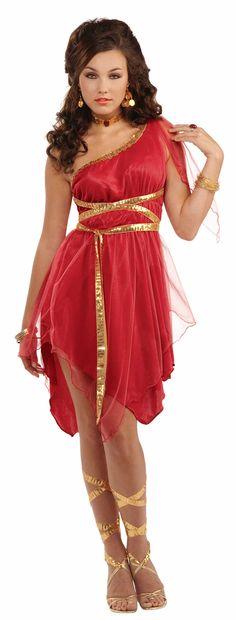 Ruby Red Goddess Costume $34.95