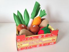 Pretend Play Felt Food Vegetable Collection with by mummymadeitme
