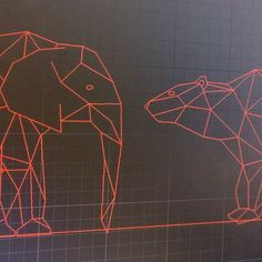 Woop! Making progress on my elephant. Hes looking good beside the bear. Next step is to machine a sample! #exciting #newproject #technicaldrawing #autocad #elephant #polarbear #instaart #instaartist #jensheehan