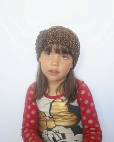 Girls Womens Winter Ear Warmer Headband in Brown by luvbuzz