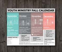 Freebie: Clean Fall 2015 Calendar - Youth Ministry Media