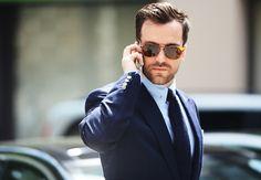 #glassesporn   Tommy Ton's Street Style: London Men's Fashion Week