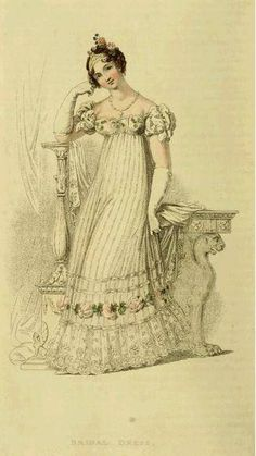 Bridal Dress, 1816, Ackermann