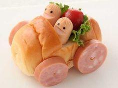Würstchen-Auto - Kindergeburtstag Snack - - - Hot dog Car