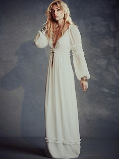 Free People Valley Dress Ladonna - just saying..... something like this with a flower crown ....... i die!!