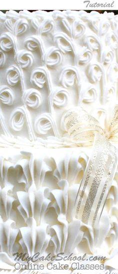 Star Tip Elegance- A Cake Decorating Tutorial by MyCakeSchool.com! {Member Video} Online Cake Decorating Classes, Tutorials, & Recipes!