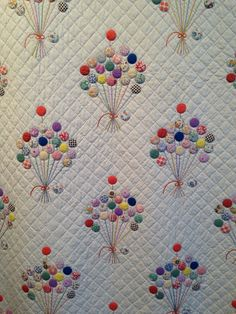 Detail, The Balloon Quilt, maker unknown, circa 1930. Donated by Olga Keesling. Courtesy the Latimer Quilt & Textile Center. Photo by Hunter's Design Studio.