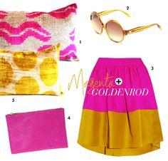 HOT HUES: Magenta   Goldenrod - Meg Biram