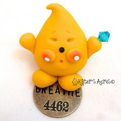 BREATHE Expression PARKER Figurine  Polymer Clay by KatersAcres, $20.00