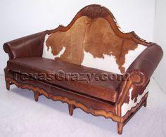 Cowboy western sofa