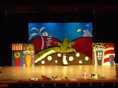 Seussical Jr. stage set, very cute!