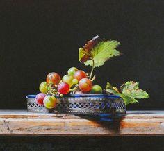 Cuadros Modernos Pinturas : Realismo Puro: Bodegones Pintados al Óleo,
