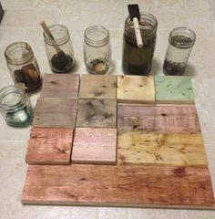 using food coloring with steel wool and tea stain: The Modern DIY Life: Cheap and Easy DIY Dark Wood Stain