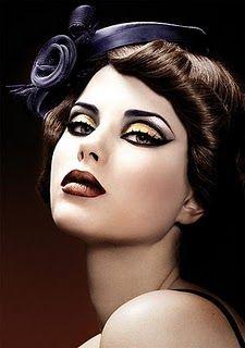 Vamp  Makeup. Love the hat!
