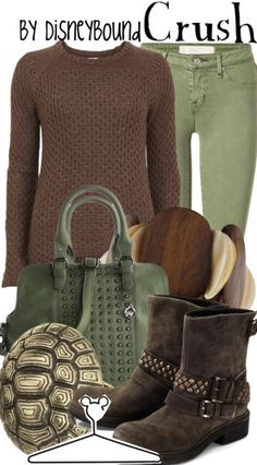 Disneybound - Crush inspired outfit....  Love the idea and the comfort factor.