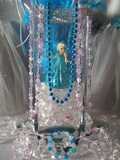 Frozen Springtime Party ideas. Crystal Ice Party to go Box Jewelry from My Princess Party to Go. http://www.myprincesspartytogo.com/QueenFrostine.html  #frozenpartyideas #princesspartyideas