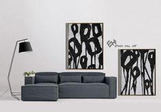 Set of 2 Flower Painting Large Canvas Wall Art Set of 2 image 4 Abstract Animal Art, Zebra Art, Frame Store, Large Canvas Wall Art, Black And White Painting, Mid Century Modern Art, Wooden Bar, Wall Art Sets, Flower