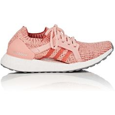 d10a654034 adidas Women's Women's UltraBOOST X Primeknit Sneakers ($180) ❤ liked on  Polyvore featuring shoes, pink, silver metallic shoes, lace up shoes,  cutout shoes ...