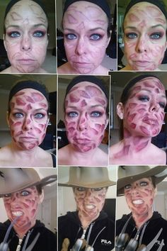 Freddy Krueger Look for Halloween, using Mehron paint and BH cosmetics palette 1 Halloween Inspo, Halloween Looks, Couple Halloween Costumes, Family Halloween, Halloween Cosplay, Halloween 2019, Scary Halloween, Horror Movie Costumes, Halloween Party