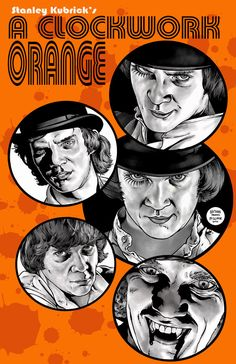 Viddy Well. This is a poster i did for Malcolm McDowell at a convention featuring many pics from Clockwork Orange