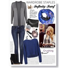 """""""Wardrobe Staple: Infinity Scarves"""" by gabree on Polyvore"""