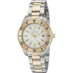 Invicta Women's 'Pro Diver' Quartz Stainless Steel Casual Watch... ($106) ❤ liked on Polyvore featuring jewelry, watches, invicta watches, quartz watches, invicta jewelry, quartz wrist watch and gold tone jewelry
