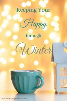 "Keeping Your Happy through Winter: The winter blues can affect anyone. That's a tough place to be in especially as homeschool moms, or moms, period. Our families run off of our well-being. If we are depressed, unhappy, or just have a case of the ""blahs"" that can carry over into our families and our homeschool."