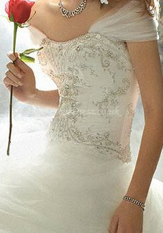 The Belle inspired wedding dress from the Disney Fairy Tale Wedding collection! LOVE!!!