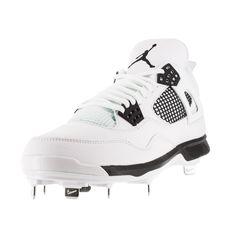 newest d162f 9e828 Nike Jordan Men s Jordan Iv Retro Metal  Black Baseball Cleat Men s Us  Baseball Helmet,