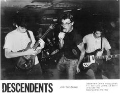 The Descendents- I Dont Know Or Remember When I 1st Heard them- I Think It Was On a College Radio Station in the mId 80s- When I Still Lived Up In NY. And Happen to Be Recording The Radio Program. I Recall Goin Out To The Mall A Few Days Later And Buying 2 Of Their Albums.