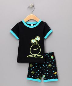 Black UFO Glow Pajama Set by Sozo. That's just a shame my boys are too big for that one...