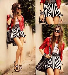 Mini Minou Skirt, Romwe Jacket, 2dayslook  T Shirt
