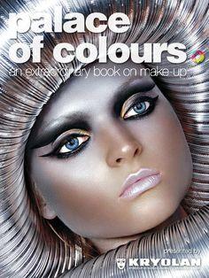 Egyptian queen make up. Kryolan Professional Make-up Kryolan Makeup, Eye Makeup, Hair Makeup, Zombie Makeup, Fantasy Make Up, Queen Makeup, Color Plata, Make Up Art, Makeup Inspiration